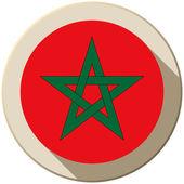 значок кнопки флаг марокко современные — Cтоковый вектор