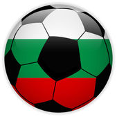 Bulgaria Flag with Soccer Ball Background — Stock Vector