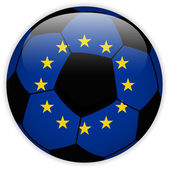 Europe Flag with Soccer Ball Background — Stock Vector