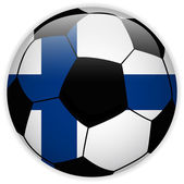 Finland Flag with Soccer Ball Background — Stockvector