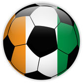 Ireland Flag with Soccer Ball Background — Stock Vector