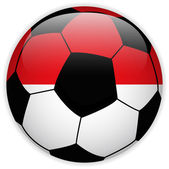 Monaco Flag with Soccer Ball Background — Stock Vector