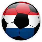 Netherlands Flag with Soccer Ball Background — Stock Vector