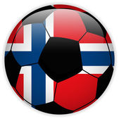 Norway Flag with Soccer Ball Background — Stock Vector