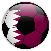 Qatar Flag with Soccer Ball Background — Stock Vector