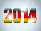 Germany 2014 with German Flag — Stockvector
