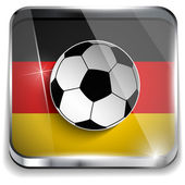Germany Flag with Soccer Ball Background — Stock Vector