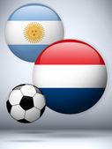 Argentina versus Netherlands Flag Soccer Game — Stock Vector
