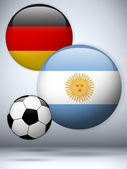 Argentina versus Germany Flag Soccer Game — Stock Vector