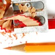 Pencil and sharpener — Stock Photo