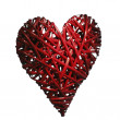Hand made red heart — Foto Stock