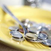 Money for eat — Stock Photo