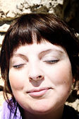 Woman face — Stock Photo