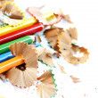 Pencils and wood shavings — Stock Photo #19528209