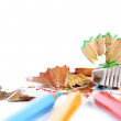 Pencils and sharpener — Stock Photo #19732803