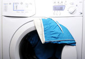 Trousers and laundry. — Stock Photo