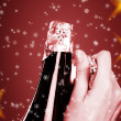 Opening champagne bottle — Foto Stock