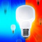 Falling bulbs — Stock Photo