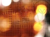 Background - bulb & arrow — Stock Photo