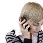 Woman talking on phone — Stock Photo #26705929