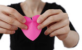 Heart shape Posst It — Stock Photo