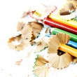 Pencils and wood shavings — Stock Photo #28960131