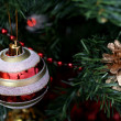 Christmas ornaments on tree. — Stock fotografie