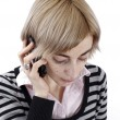 Woman talking on phone — Stock Photo #29724247