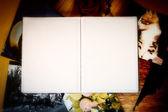 Album fotografico con spazio copia — Foto Stock
