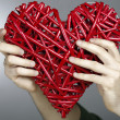 Hand made red heart — Stock Photo #30587461