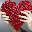 Stock Photo: Hand made red heart