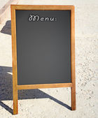 Restaurant menu chalkboard — Stock Photo