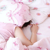 Young woman sleeping. — Stock Photo