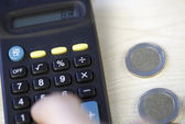 Calculating my money — Stock Photo