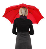 Woman with umbrella — Stockfoto