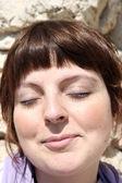 žena obličej — Stock fotografie