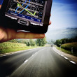 GPS in a man hand — Stock Photo #47311235