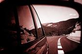 Auto spiegel reflectie — Stockfoto