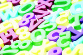 Close-up of letters. Great details ! — Foto Stock