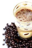 Latte Macchiato in glass — Stock Photo