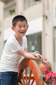 Children are happy work — Stock Photo