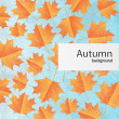 Autumn retro background — Imagen vectorial
