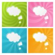 Clouds backgrounds - Stockvektor