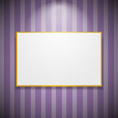 Frame on the wall — Stock Vector