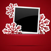 Photo frame Xmas — Stock Vector