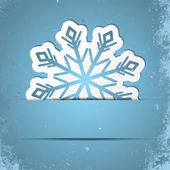 Retro snowflake — Vector de stock