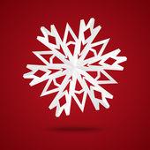 Paper snowflake — Stock Vector