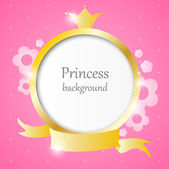 Prinses achtergrond — Stockvector