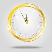 Gouden klok — Stockvector