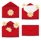 Christmas envelopes — Stock Vector